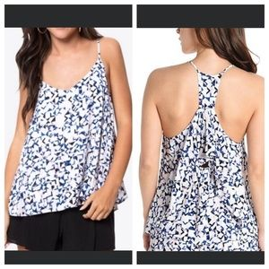 Cupcakes and Cashmere Elden Ruffle Racerback Tank